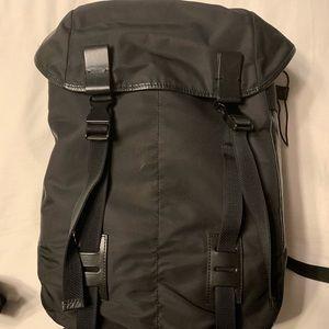 Lanvin calf skin leather/nylon backpack